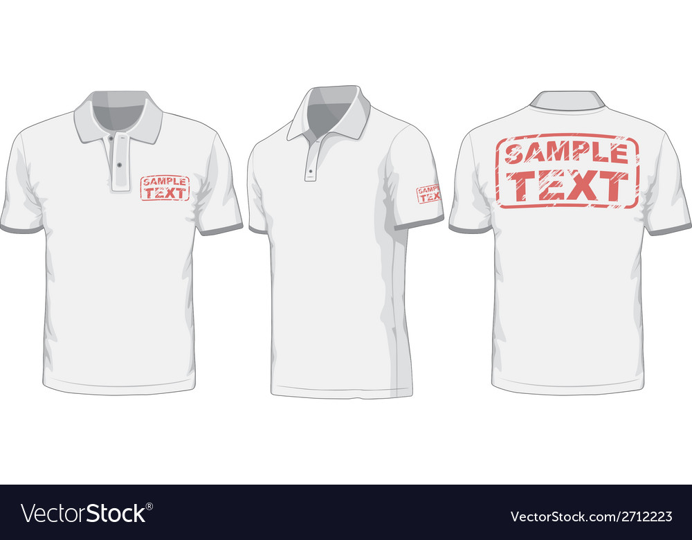 Front back and side views of polo-shirt vector   Price: 1 Credit (USD $1)