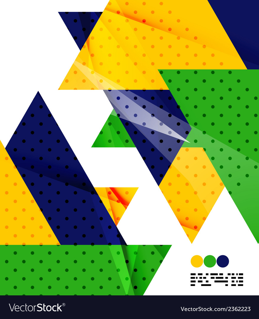 Geometric background in brazil flag concept vector   Price: 1 Credit (USD $1)