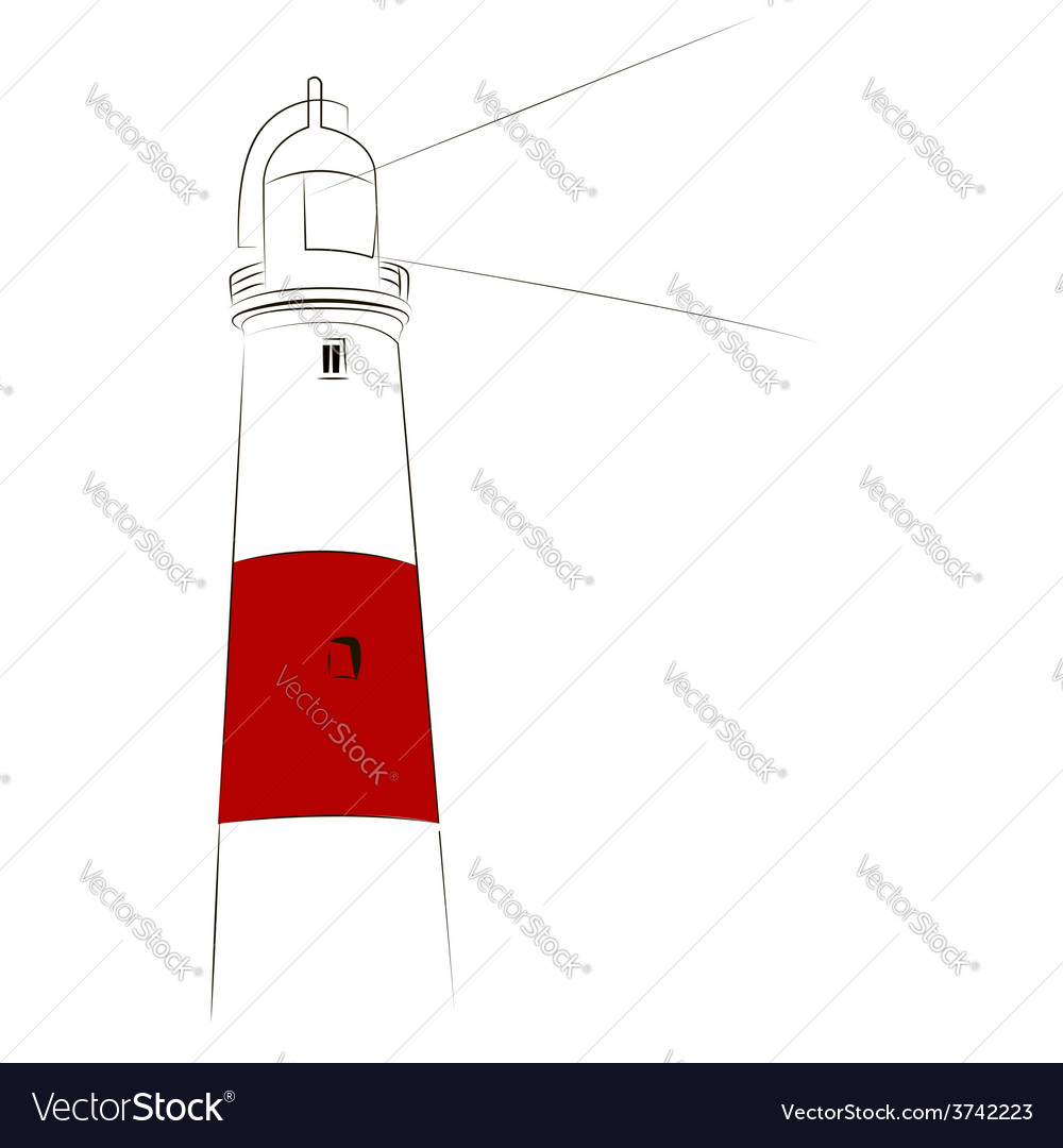 Lighthouse sketch vector | Price: 1 Credit (USD $1)
