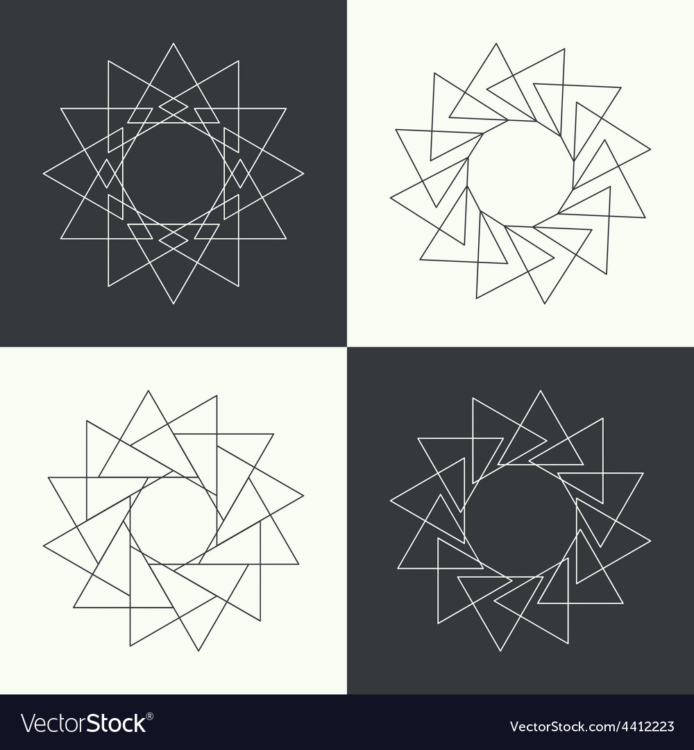 Sacred symbols and signs vector | Price: 1 Credit (USD $1)