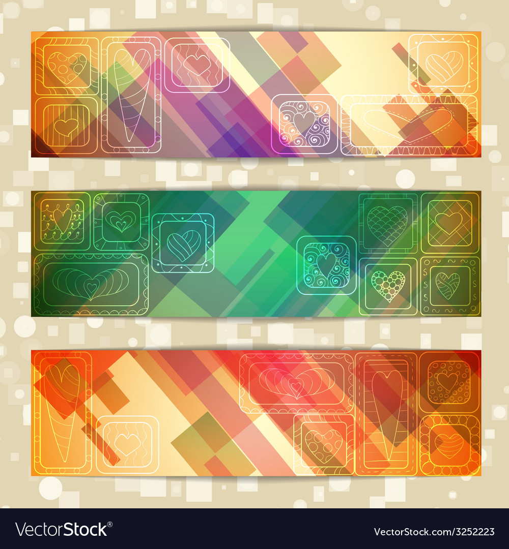Set of light straight lines abstract pattern cards vector | Price: 1 Credit (USD $1)