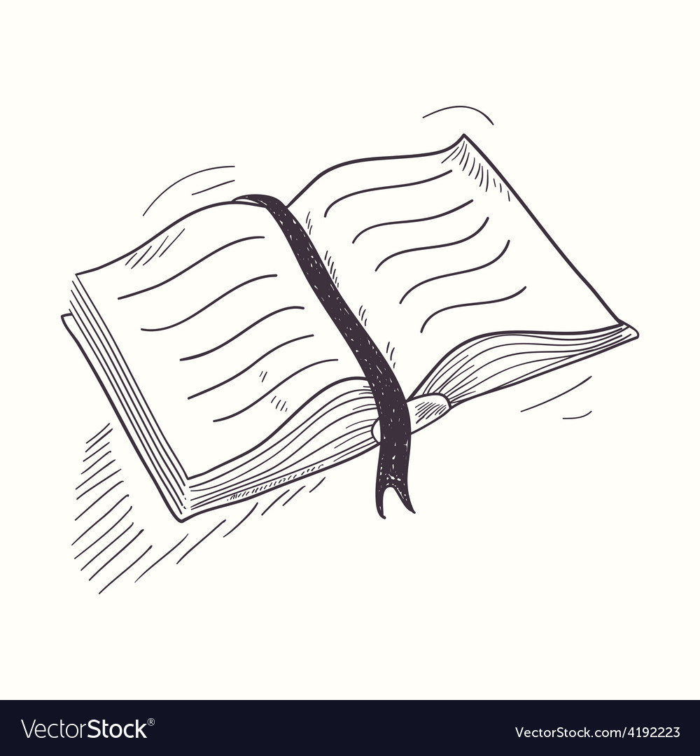 Sketched open book desktop icon vector | Price: 1 Credit (USD $1)