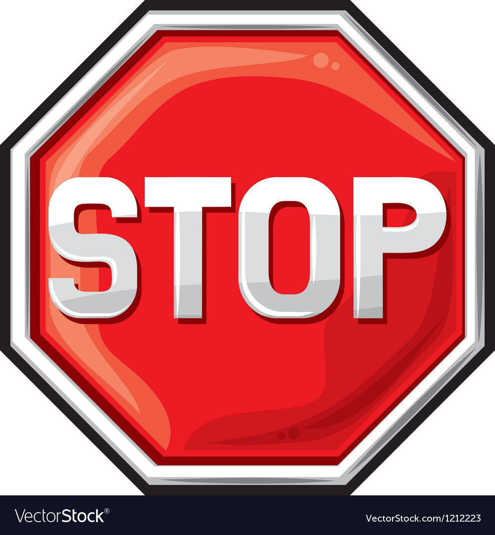 Stop sign vector | Price: 3 Credit (USD $3)