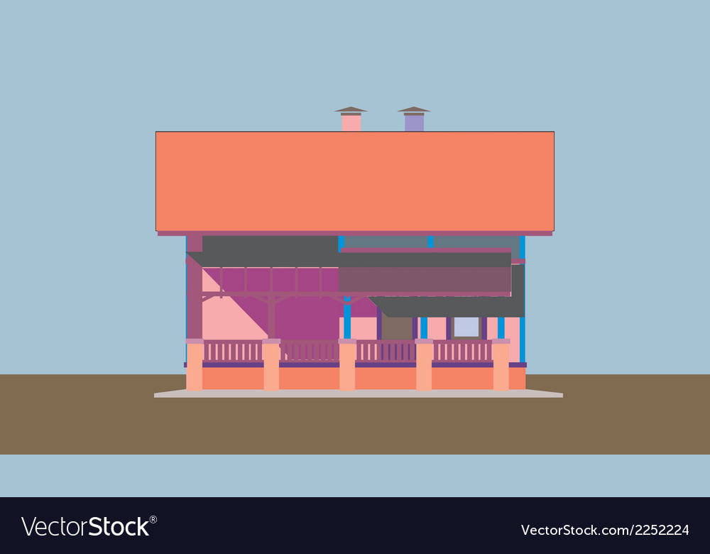 02 colored house v vector | Price: 1 Credit (USD $1)