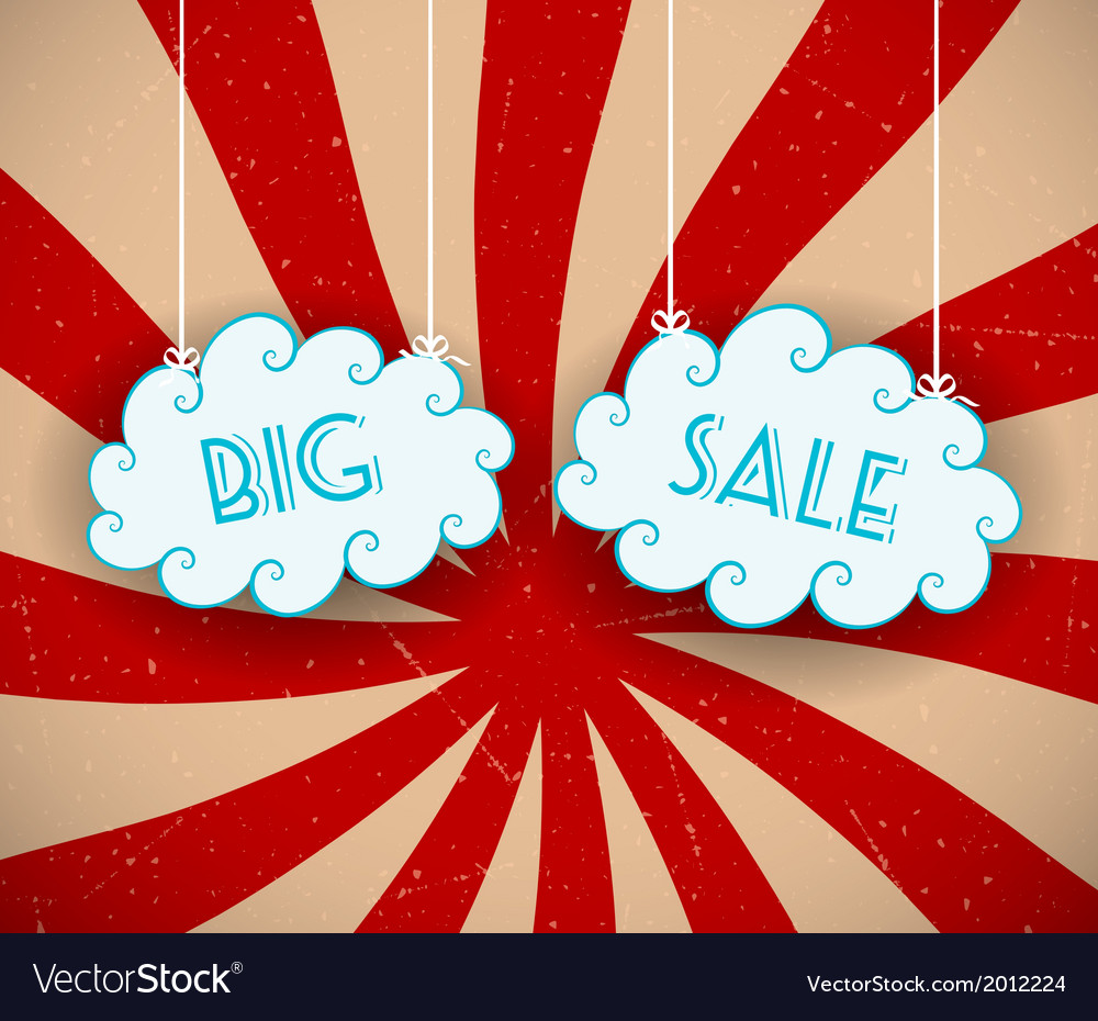 Big sale background vector | Price: 1 Credit (USD $1)