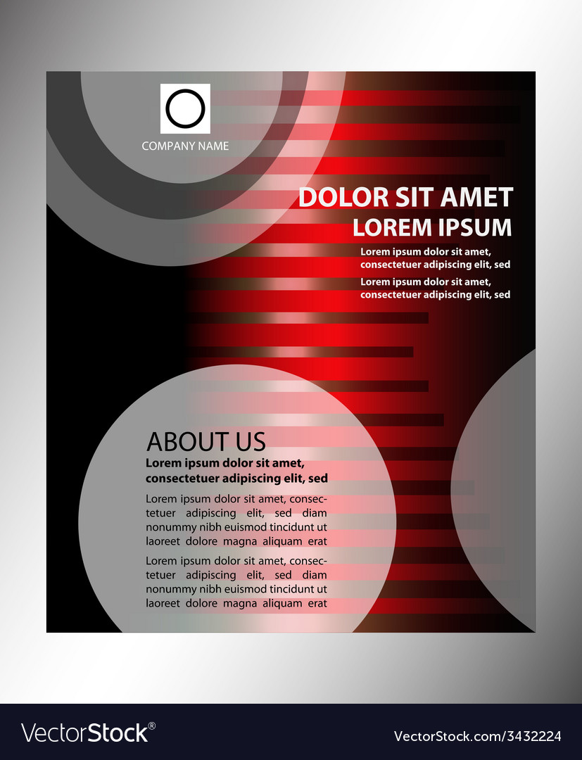 Dark red brochure template design vector | Price: 1 Credit (USD $1)