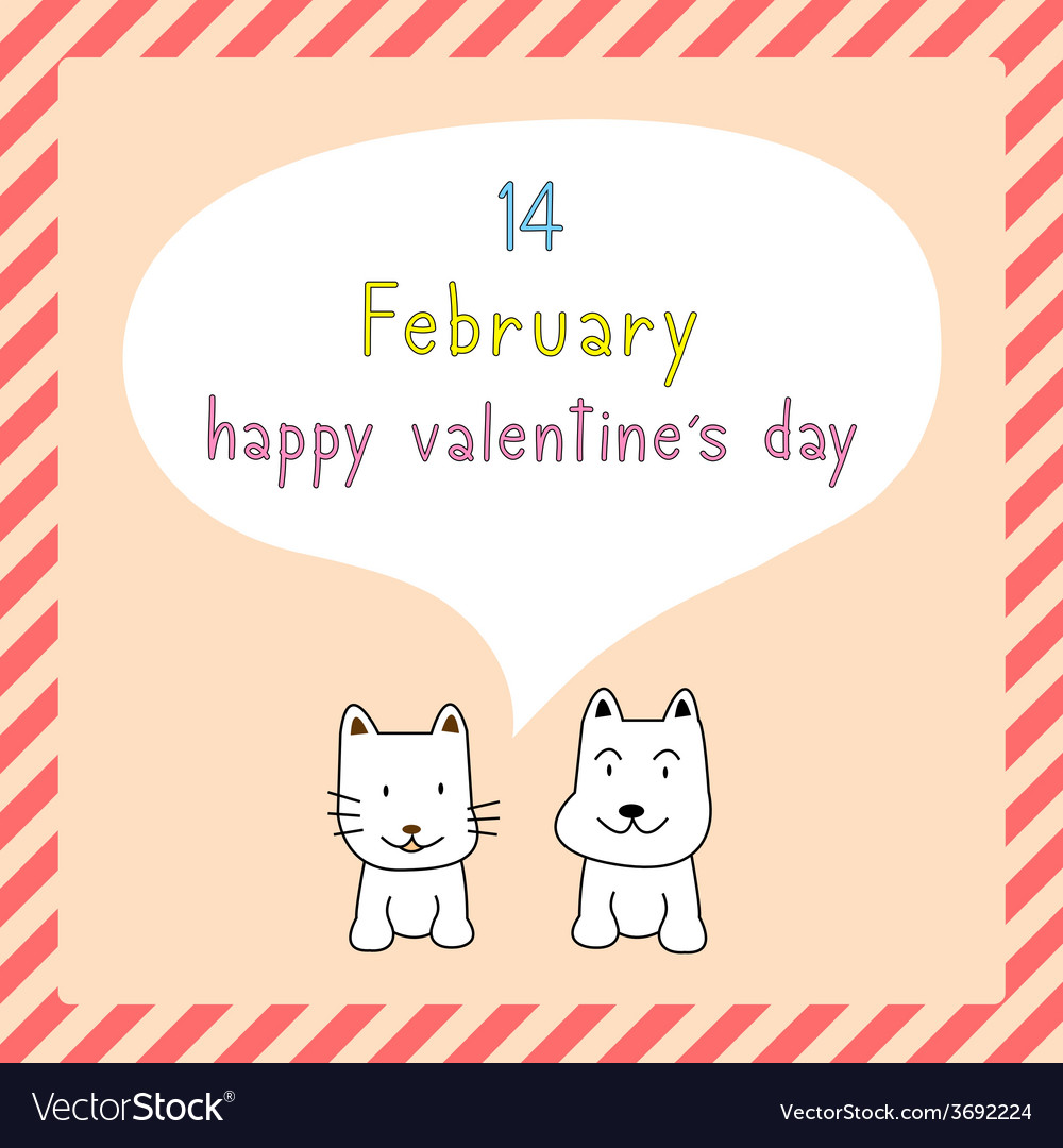 Happy valentine s day card9 vector | Price: 1 Credit (USD $1)