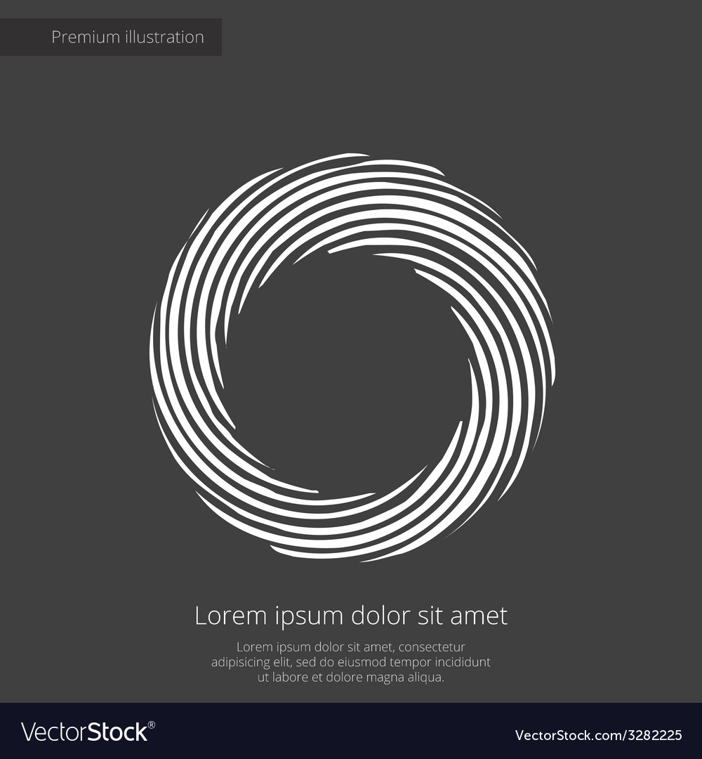 Abstract circle premium icon white on dark backgro vector | Price: 1 Credit (USD $1)