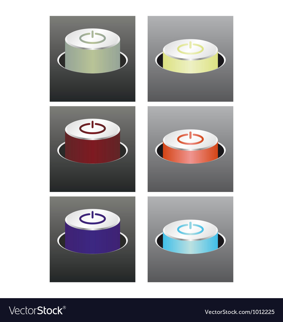 Colored glowing buttons vector | Price: 1 Credit (USD $1)