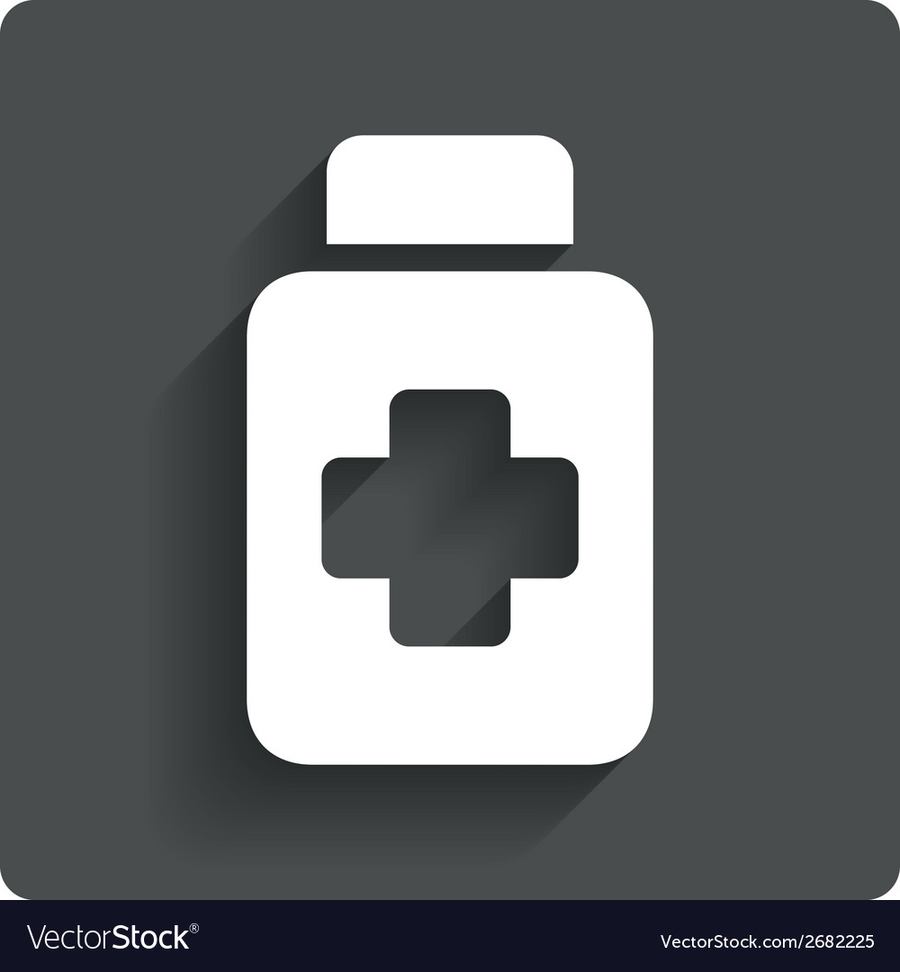 Drugs sign icon pack with pills symbol vector | Price: 1 Credit (USD $1)
