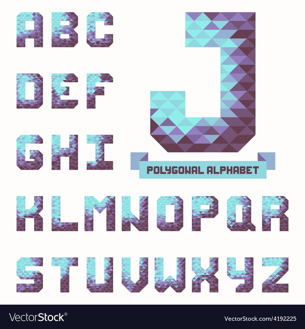 Full polygonal triangular alphabet vector | Price: 1 Credit (USD $1)