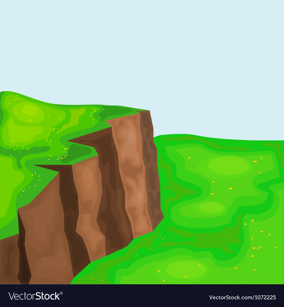 Landscape with cliffs and meadows eps10 vector | Price: 1 Credit (USD $1)