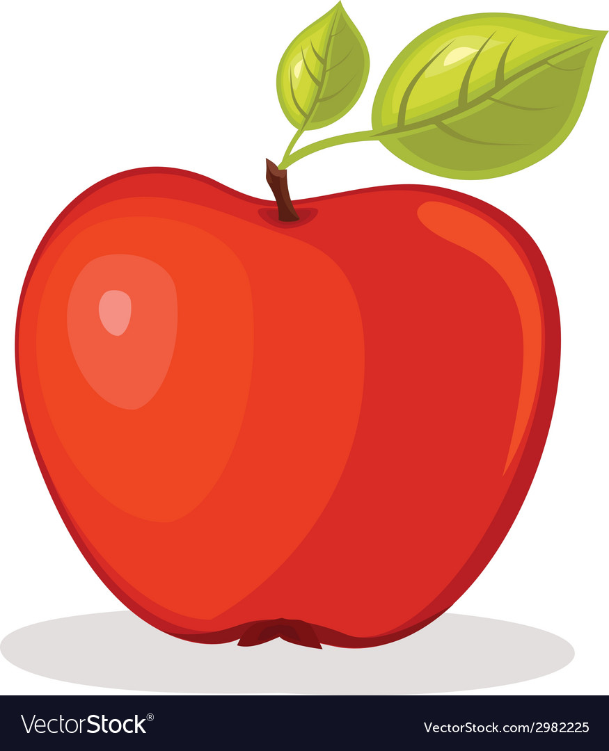 Red apple vector | Price: 1 Credit (USD $1)