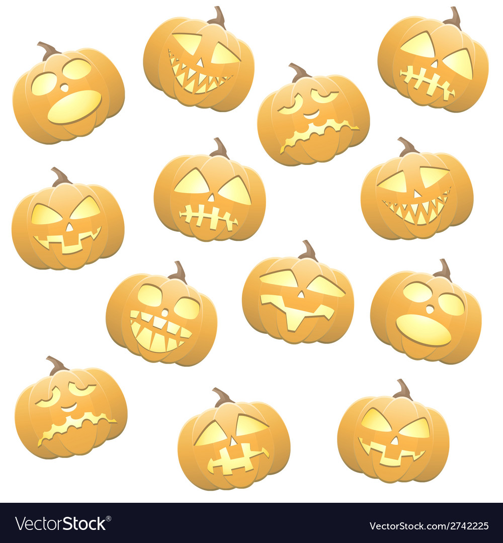 Seamless pumpkins background vector | Price: 1 Credit (USD $1)