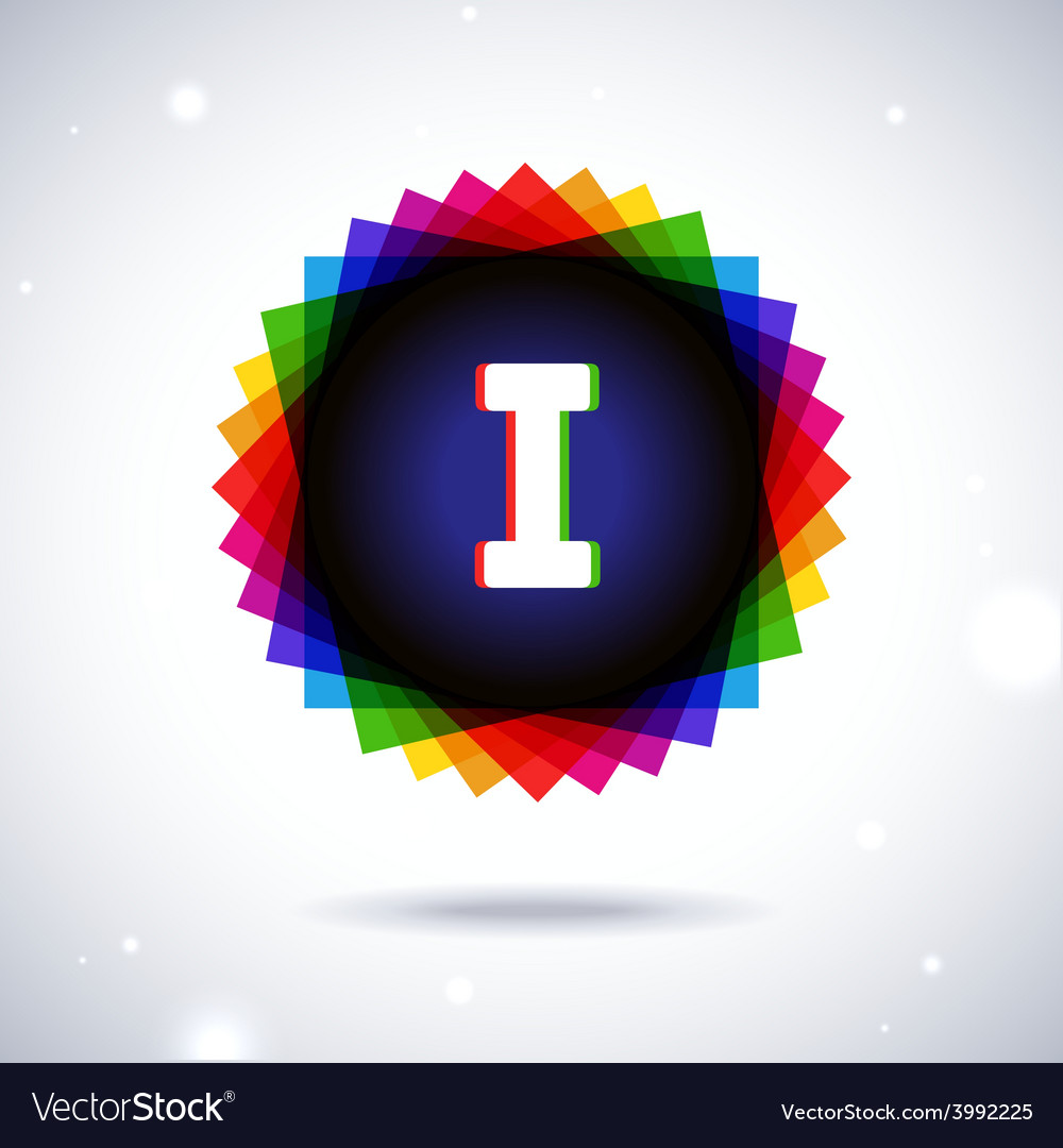 Spectrum logo icon letter i vector | Price: 1 Credit (USD $1)