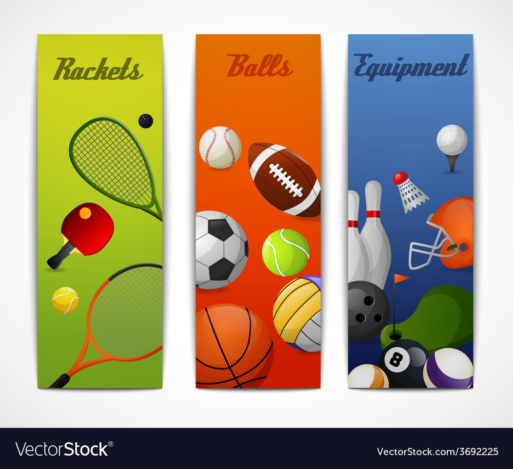 Sports vertical banners vector | Price: 1 Credit (USD $1)
