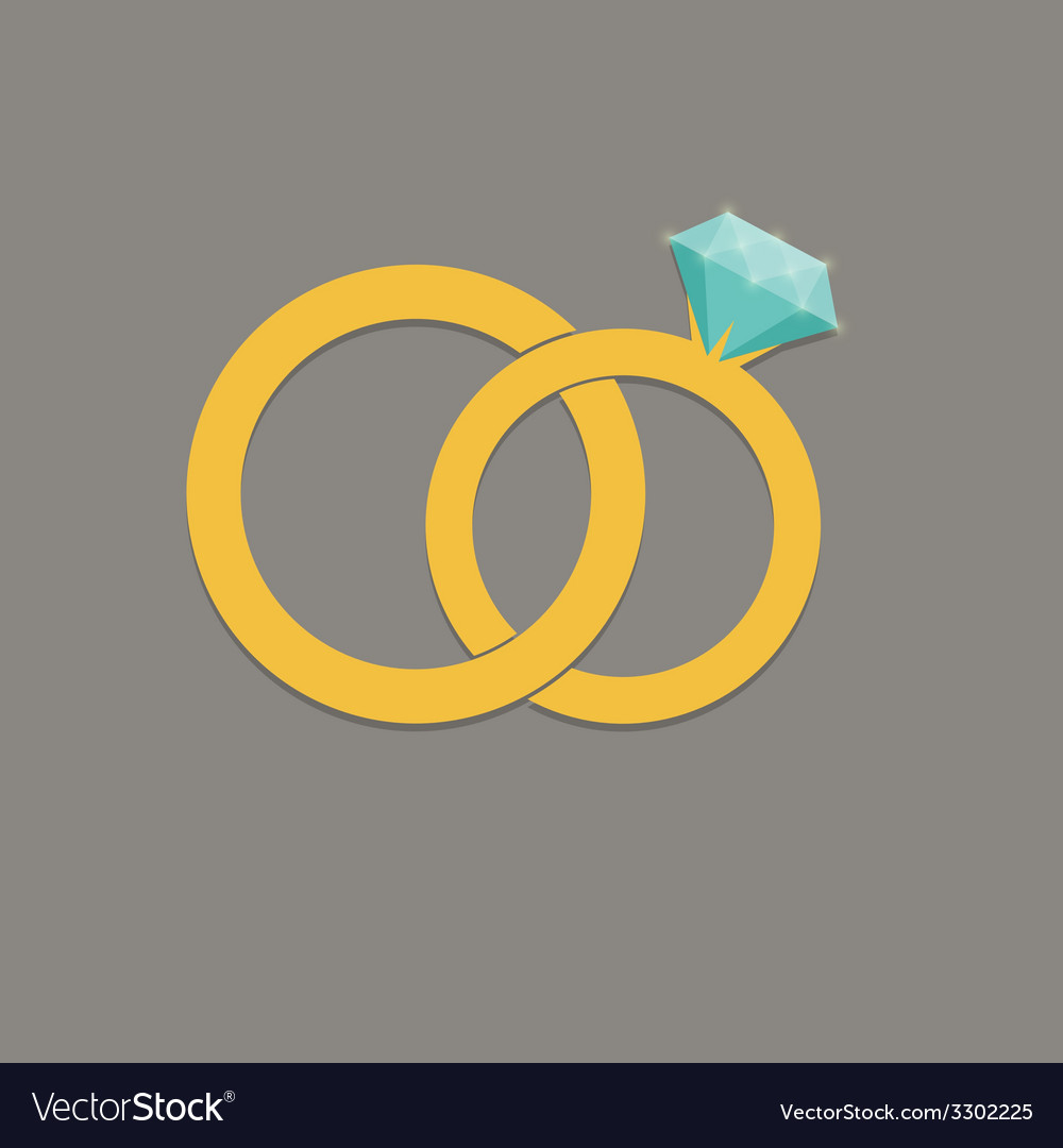 Wedding rings icon vector | Price: 1 Credit (USD $1)