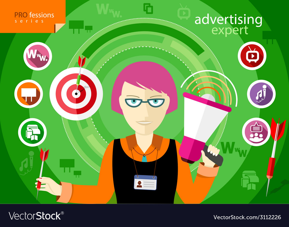 Advertising expert of marketing profession series vector | Price: 1 Credit (USD $1)