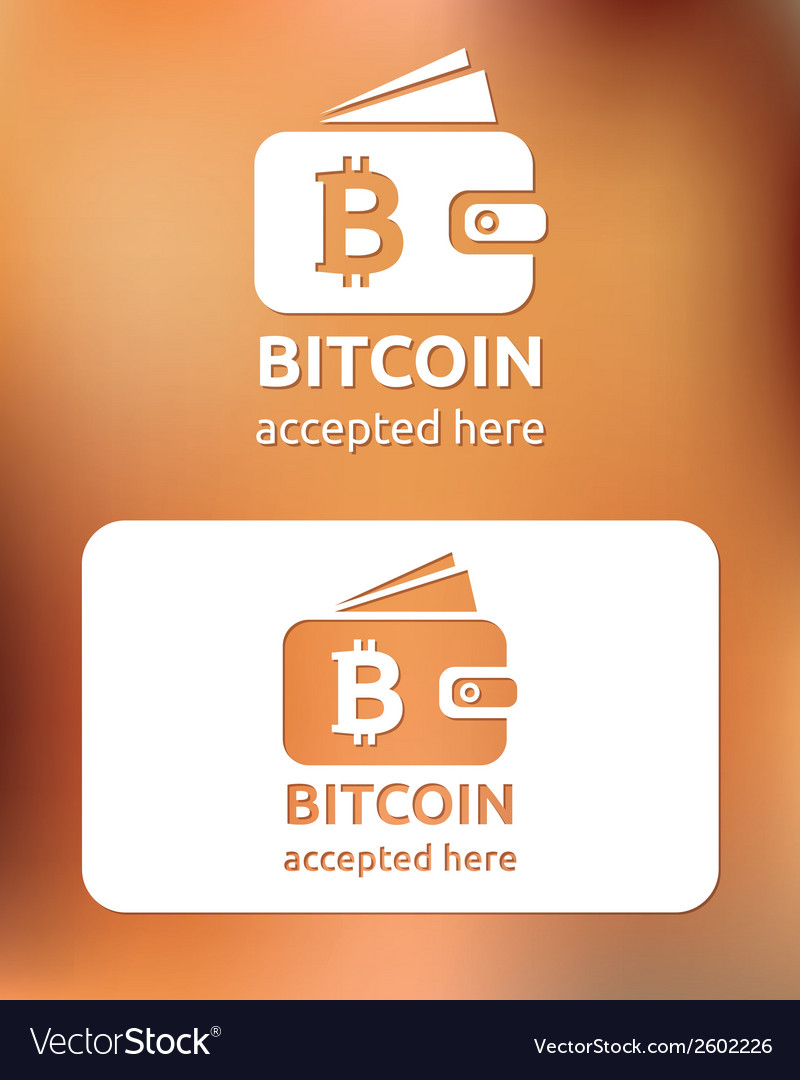 Bitcoin accepted vector | Price: 1 Credit (USD $1)