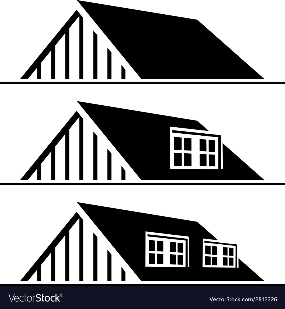 Black house roof silhouette vector | Price: 1 Credit (USD $1)