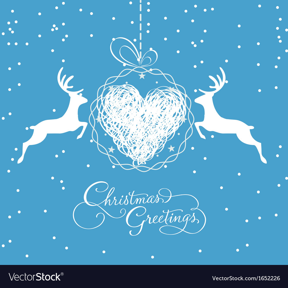 Christmas card with ball vector | Price: 1 Credit (USD $1)