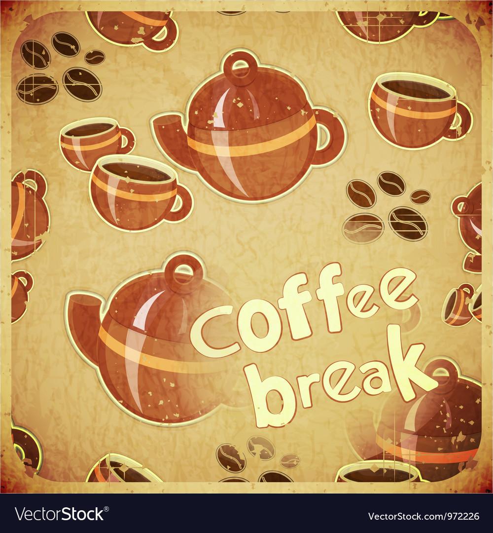 Coffee break retro vector | Price: 1 Credit (USD $1)