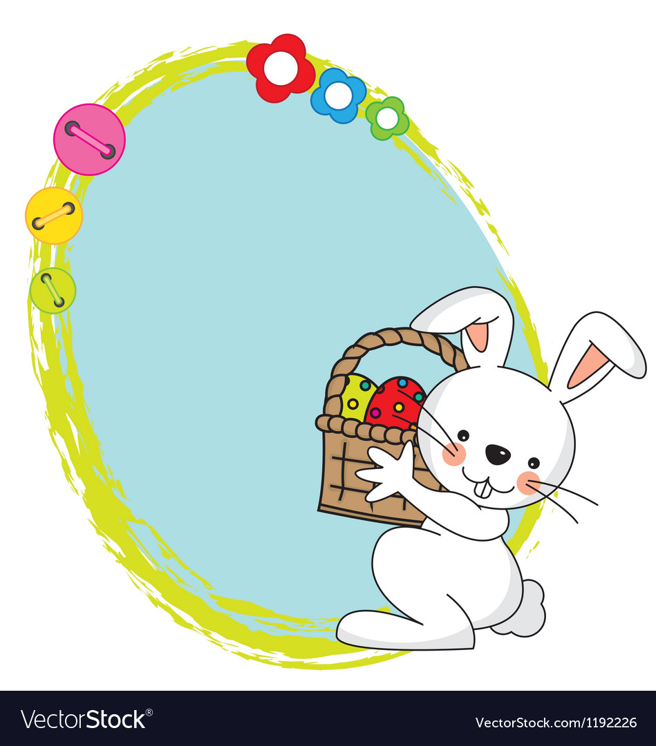 Easter bunny spring framework vector | Price: 1 Credit (USD $1)