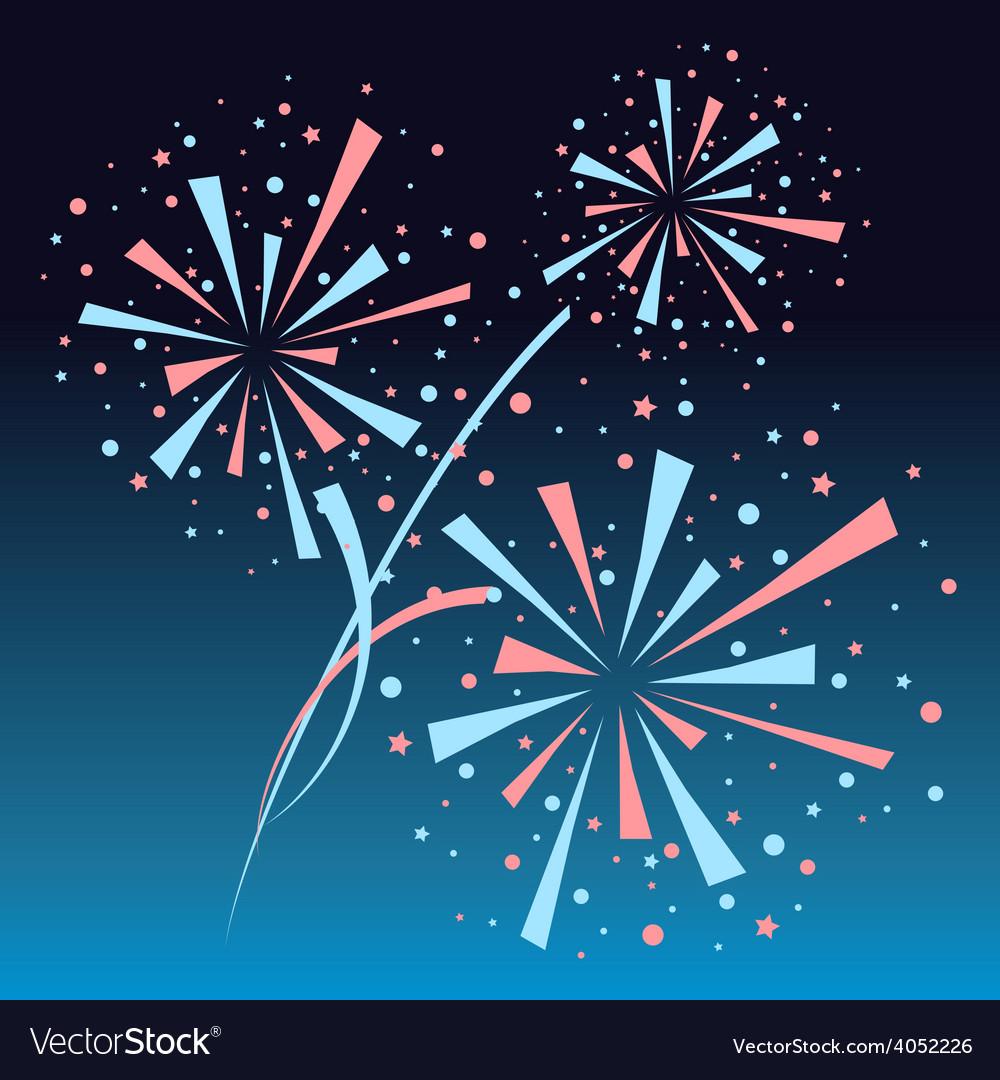 Firework background vector | Price: 1 Credit (USD $1)