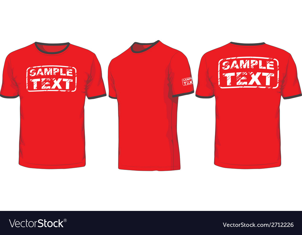 Front back and side views of t-shirt vector | Price: 1 Credit (USD $1)