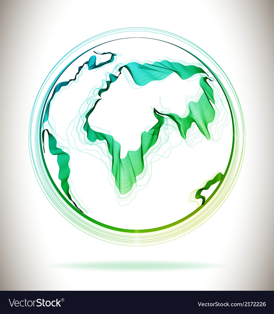 Globe green abstract icon vector | Price: 1 Credit (USD $1)