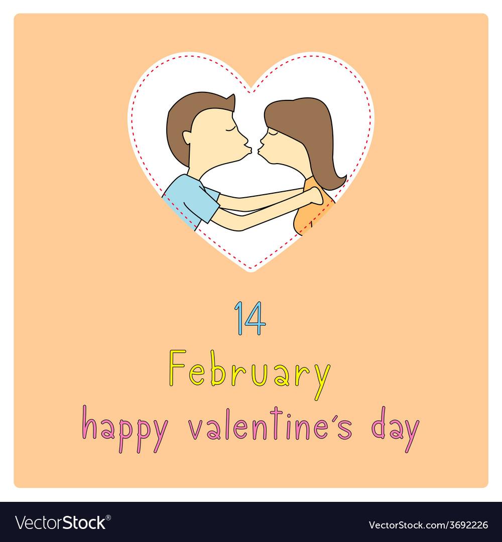 Happy valentine s day card10 vector | Price: 1 Credit (USD $1)