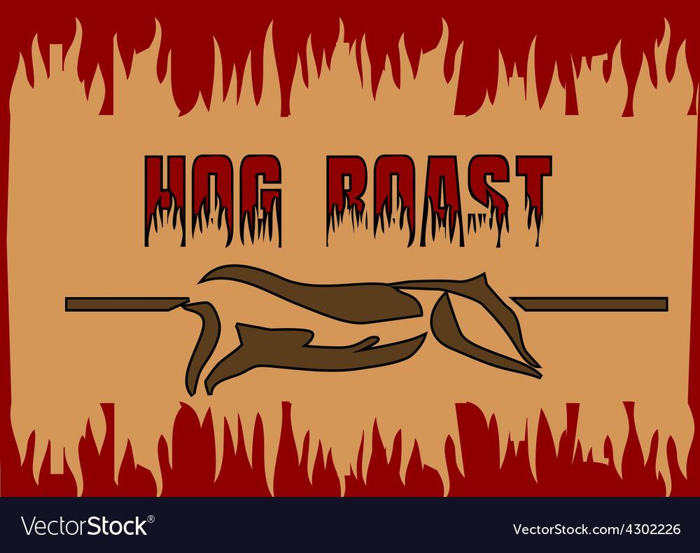 Hog roast vector | Price: 1 Credit (USD $1)