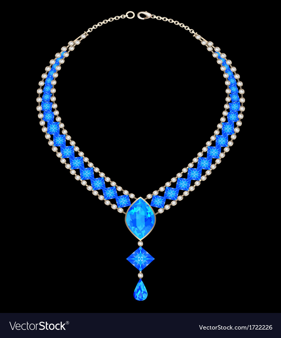 Jewelry female necklace vector | Price: 1 Credit (USD $1)