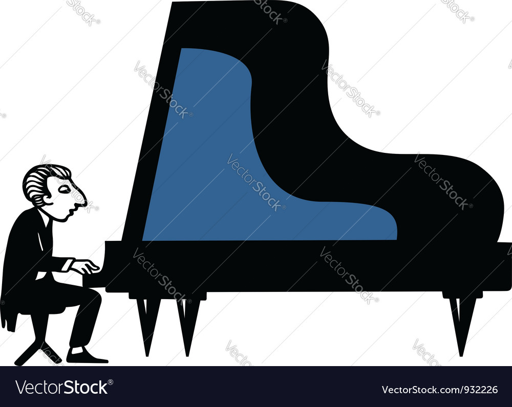 Piano musician vector   Price: 1 Credit (USD $1)