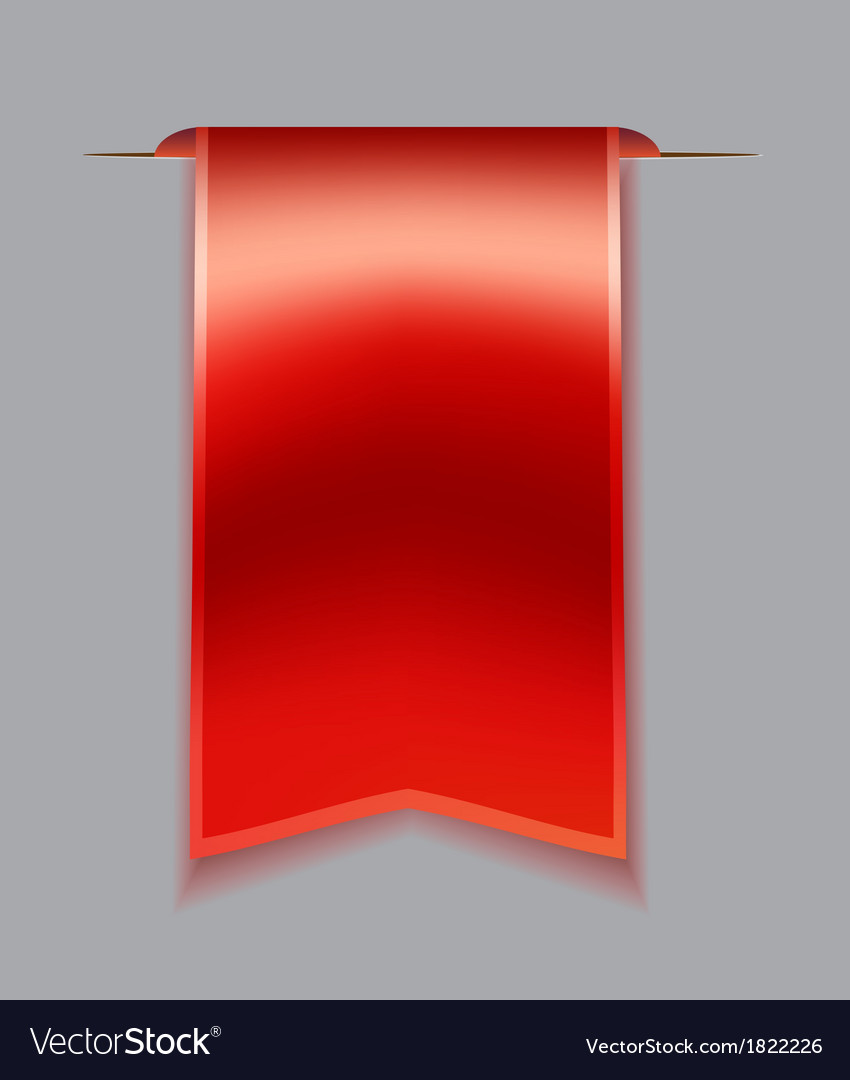 Red bookmark ribbon vector | Price: 1 Credit (USD $1)