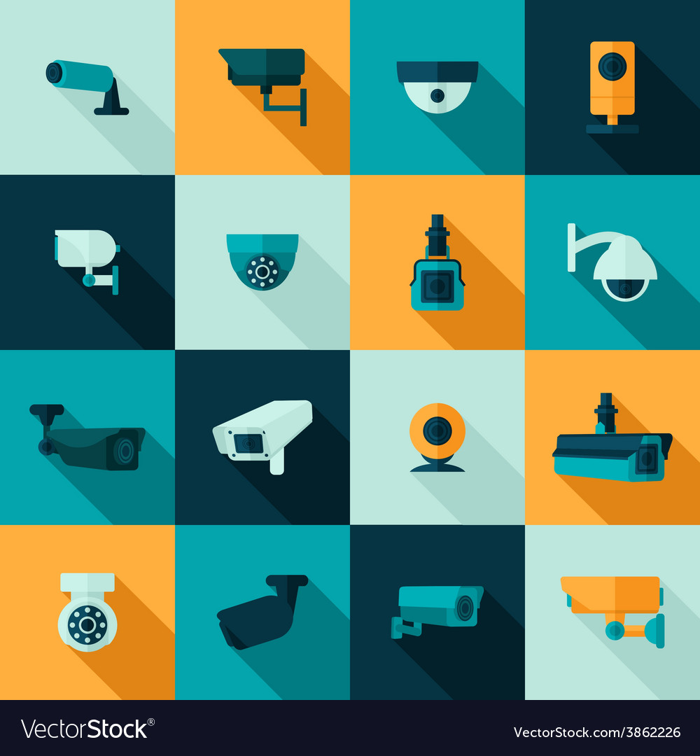 Security camera icon vector