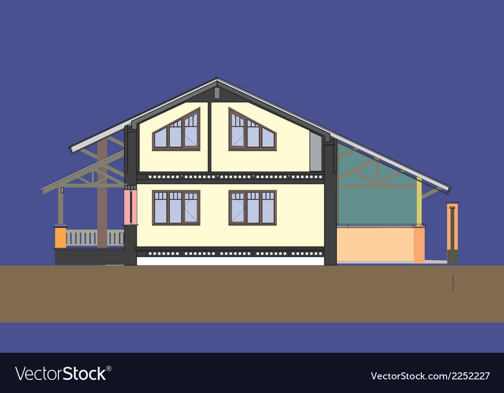 03 colored house v vector | Price: 1 Credit (USD $1)