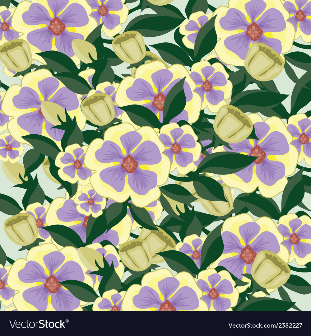 Background consisting of beautiful flowers vector | Price: 1 Credit (USD $1)