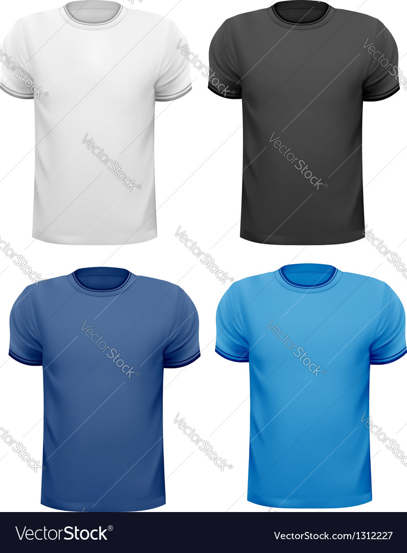Black and white and color men t-shirts design vector | Price: 1 Credit (USD $1)