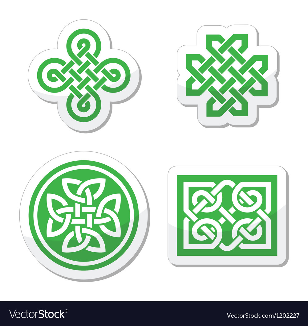 Celtic knots patterns - vector | Price: 1 Credit (USD $1)