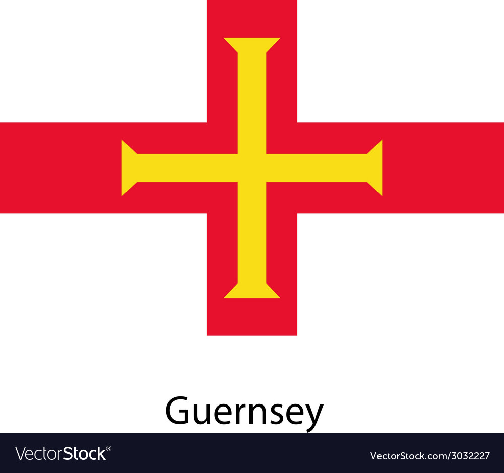 Flag of the country guernsey vector   Price: 1 Credit (USD $1)