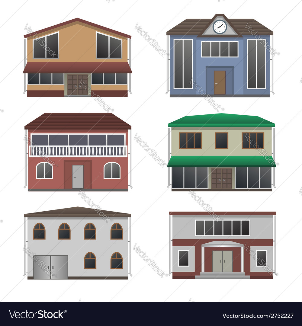 Home icon collection vector | Price: 1 Credit (USD $1)
