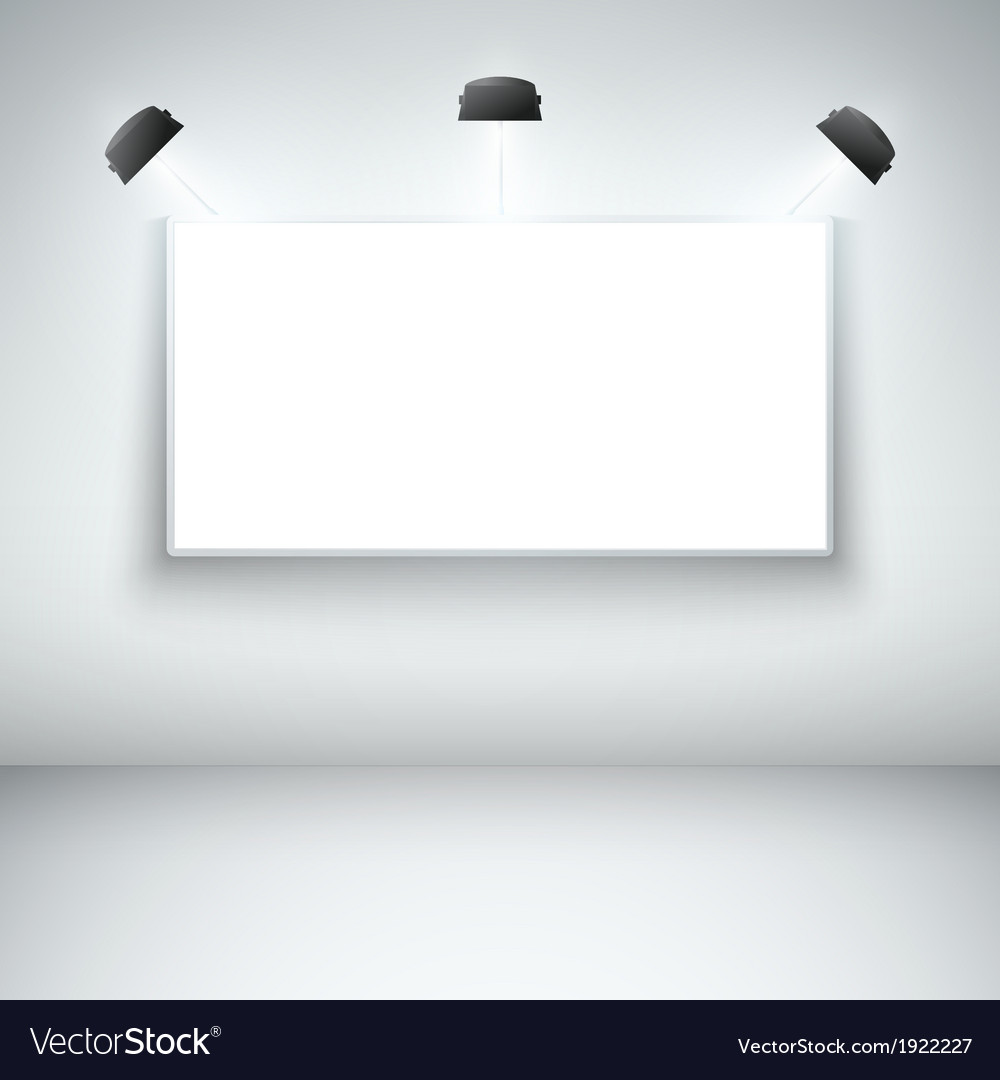 Illuminated blank gallery frame vector | Price: 1 Credit (USD $1)