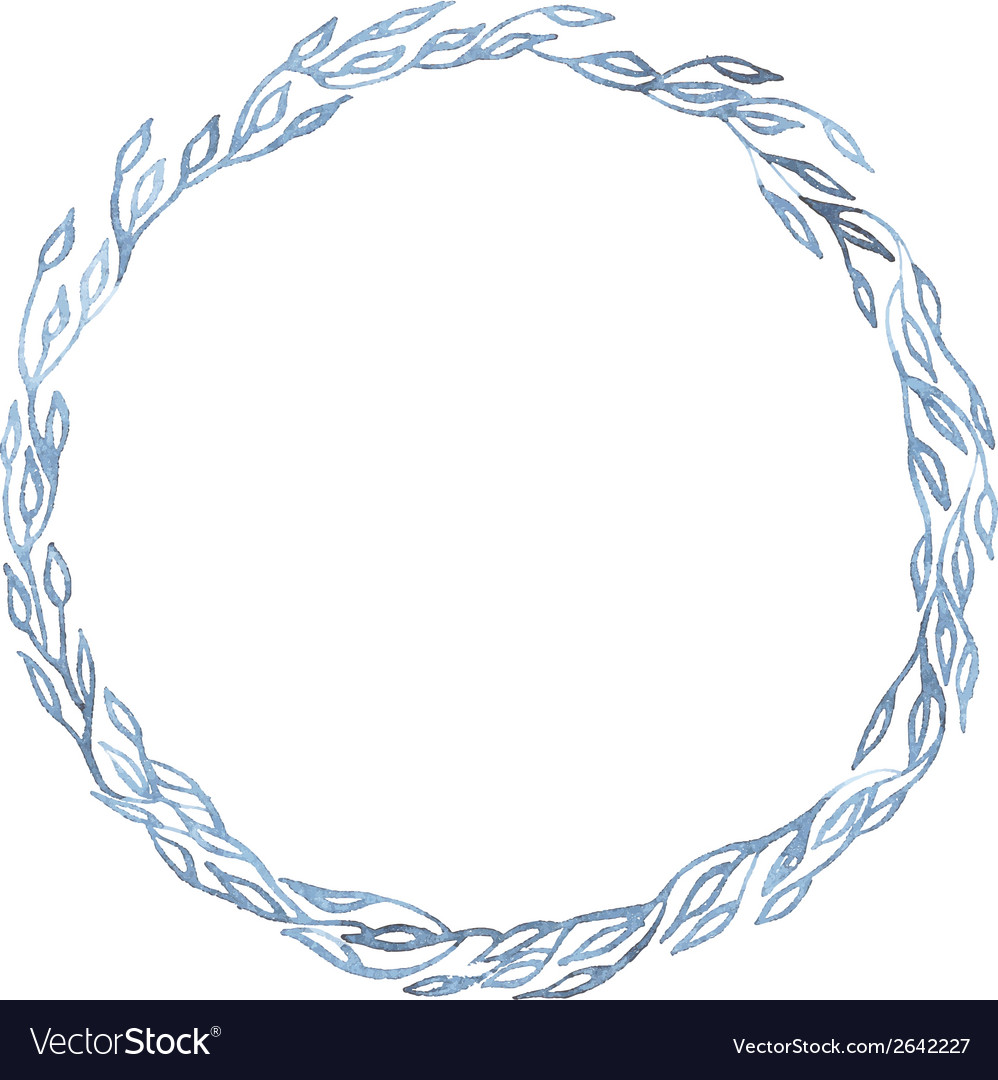 Indigo blue hand drawn frame vector | Price: 1 Credit (USD $1)