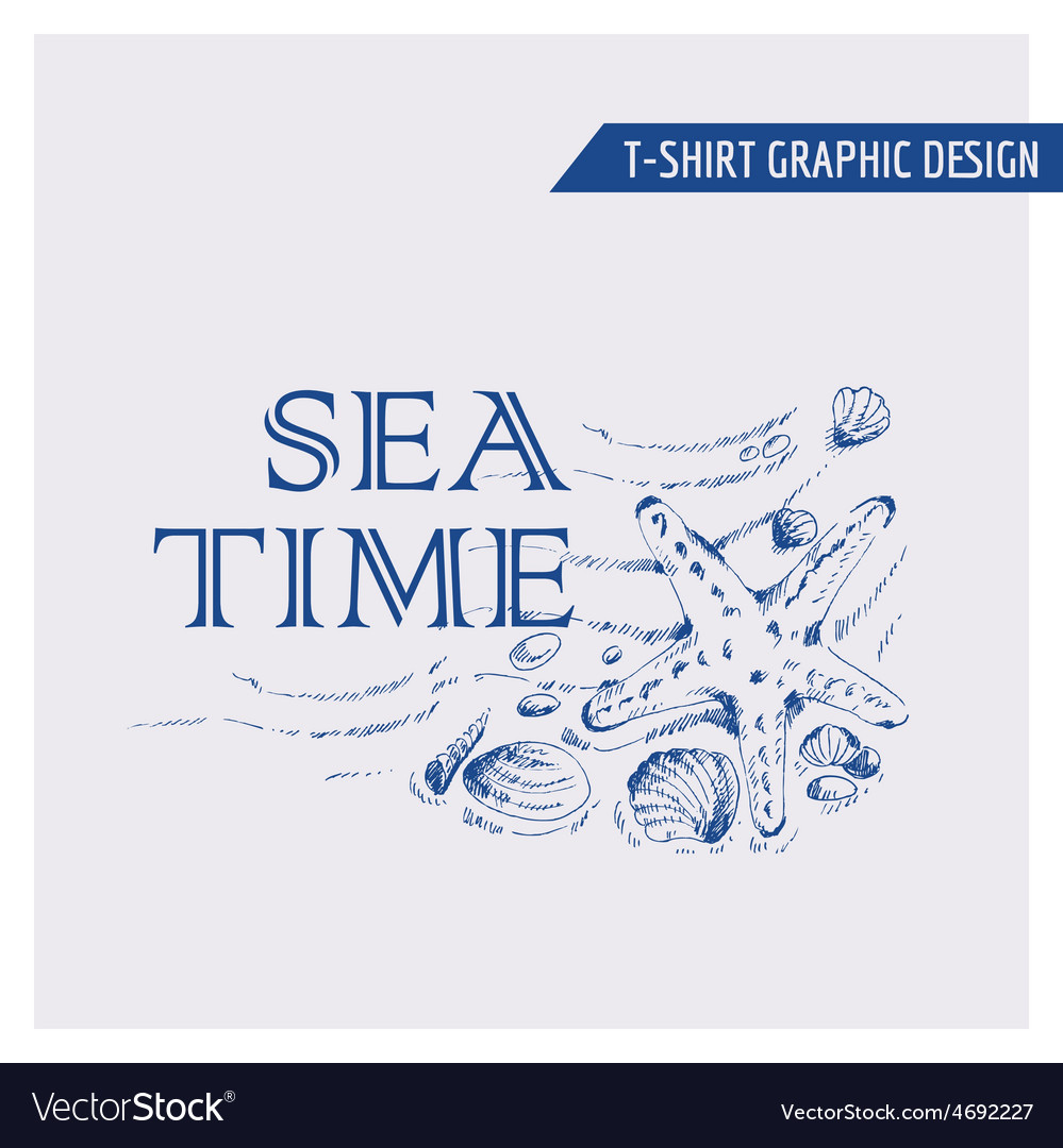 Nautical beach graphic design - for t-shirt vector | Price: 1 Credit (USD $1)