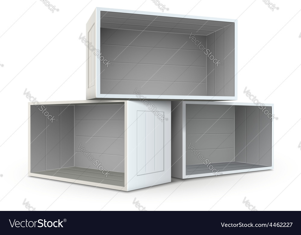 Open boxes vector | Price: 1 Credit (USD $1)