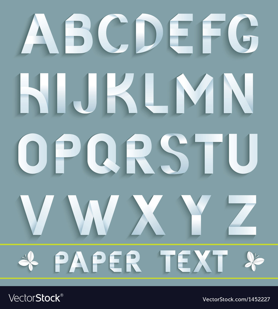 Original paper font vector | Price: 1 Credit (USD $1)
