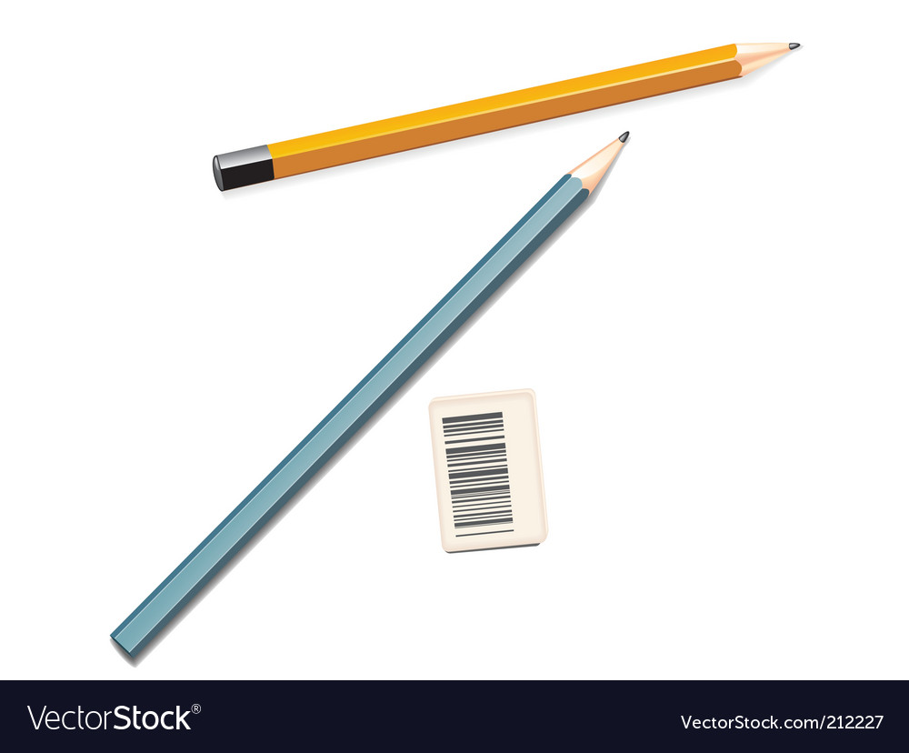 Pencil and eraser vector | Price: 3 Credit (USD $3)