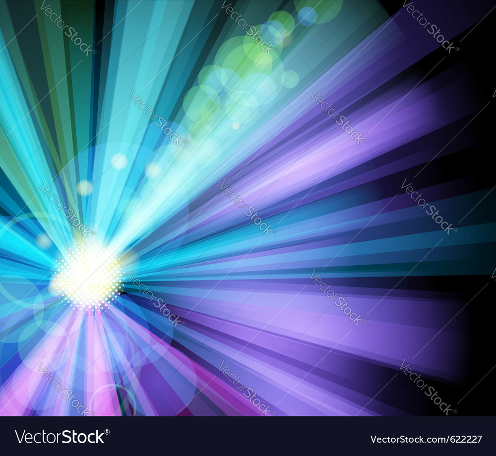 Ray light party banner vector | Price: 1 Credit (USD $1)