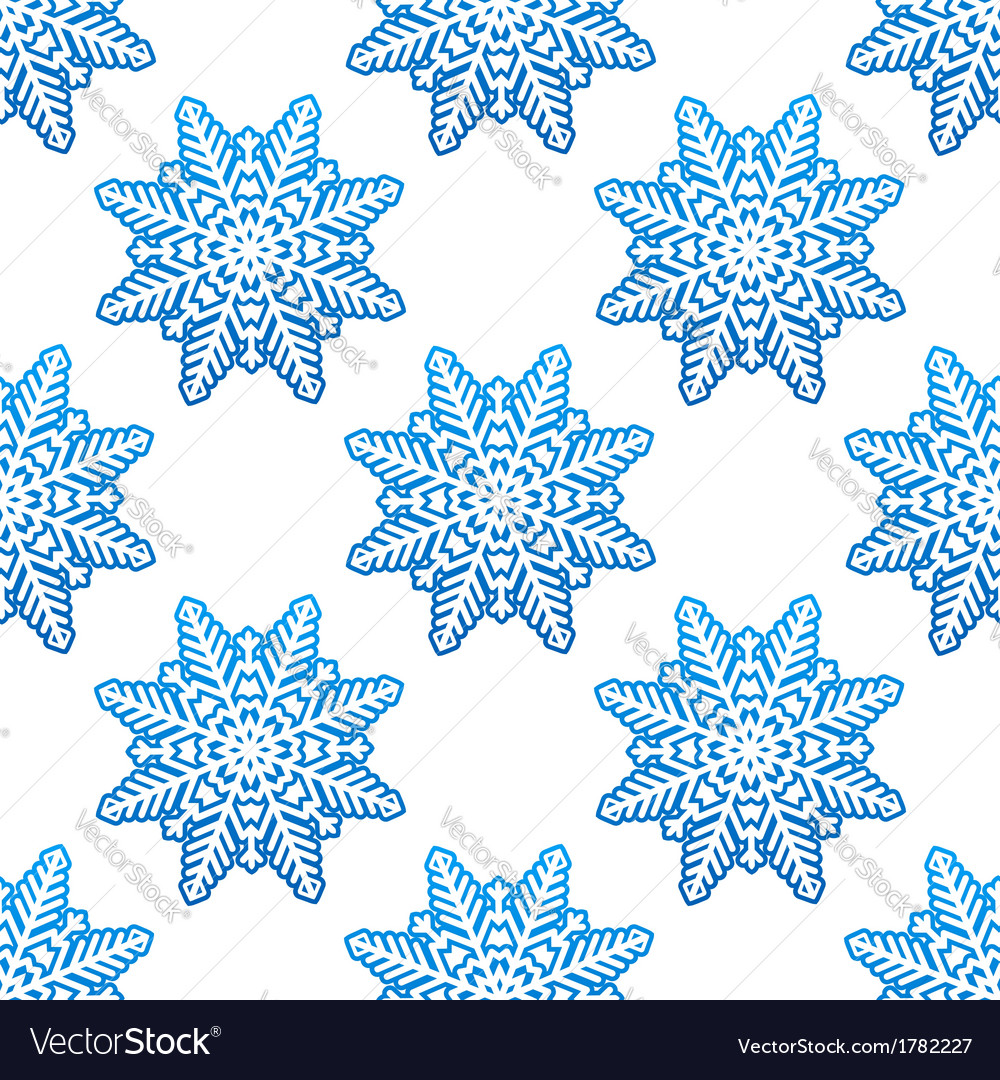Snowflakes winter seamless pattern background vector | Price: 1 Credit (USD $1)